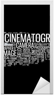 Naklejka na Drzwi Chmura słowo kinematografia
