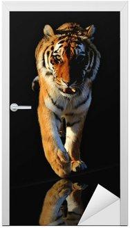 Naklejka na Drzwi Chodzenie tygrys