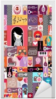 Naklejka na Drzwi Collage Art / Sztuka Skład
