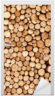 Naklejka na Drzwi Drewno tekstury