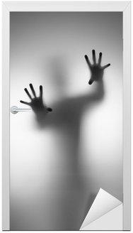 Naklejka na Drzwi Duchy rąk