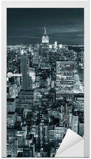 Naklejka na Drzwi Empire State Building zbliżenie