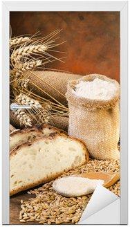 Naklejka na Drzwi Farina con Sacco di Pane e spighe