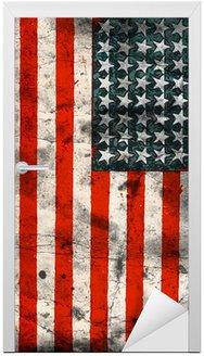 Naklejka na Drzwi Flaga Stanów Zjednoczonych (Stany Zjednoczone Ameryki)