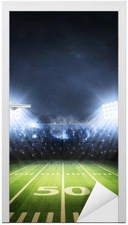 Naklejka na Drzwi Football amerykański stadion