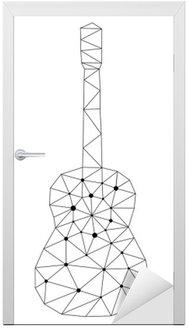 Naklejka na Drzwi Gitara