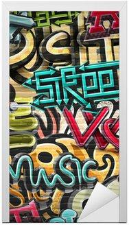 Naklejka na Drzwi Graffiti w tle