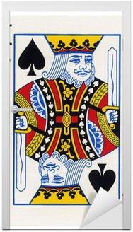 Naklejka na Drzwi Grając w karty - King of Spades