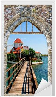 Naklejka na Drzwi Grecki tradycyjny kapliczka