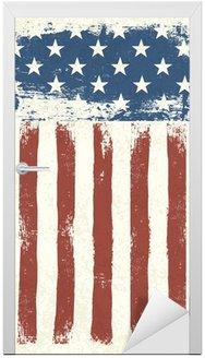 Naklejka na Drzwi Grunge flag tle amerykańskich. Ilustracji wektorowych, EPS 10.