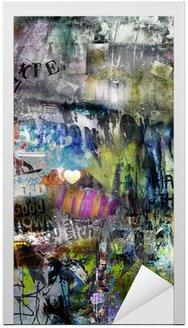Naklejka na Drzwi Grungy tło plakatu rozdarty