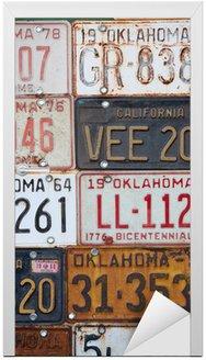 Grupa starych zabytkowych płyt amerykańskich licencji