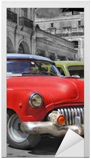 Naklejka na Drzwi Hawana samochody panorama kolorowe
