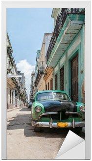 Naklejka na Drzwi Hawana stary samochód szkoła