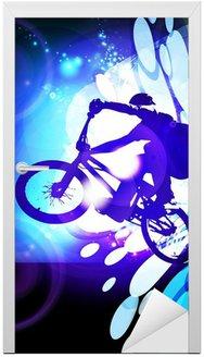 Naklejka na Drzwi Ilustracja BMX rowerzysta