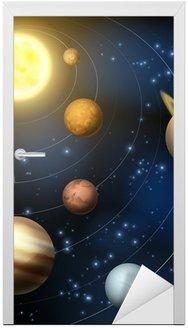 Naklejka na Drzwi Ilustracja planety układu słonecznego