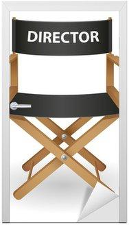 Naklejka na Drzwi Ilustracji wektorowych krzesło reżysera