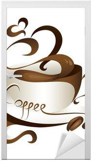 Naklejka na Drzwi Kawa