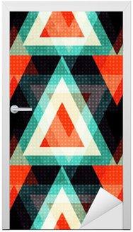 Naklejka na Drzwi Kolorowe wielokąty na ciemnym tle. Bezproblemowa geometryczny wzór. ilustracji wektorowych