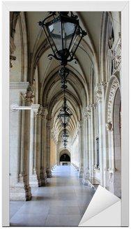 Naklejka na Drzwi Kolumnada Ratusz w Wiedniu, Austria
