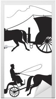 Koń wektor sylwetki taksówce