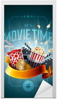 Naklejka na Drzwi Koncepcja filmu szablon plakat