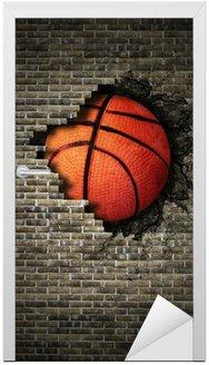 Naklejka na Drzwi Koszykówka