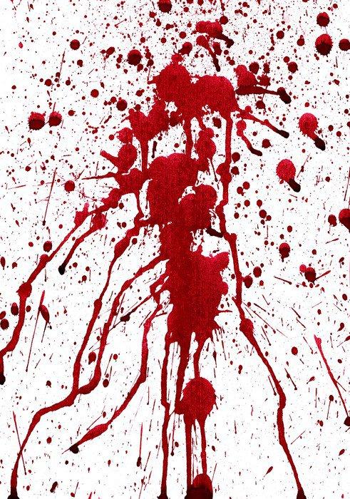 Naklejka na Drzwi Krwawe plamy -