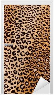 Naklejka na Drzwi Leopard tle