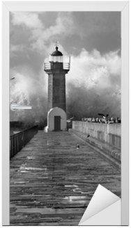 Naklejka na Drzwi Lighthouse, Foz do Douro, Portugalia