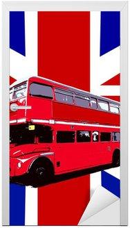 Naklejka na Drzwi Londyński autobus z flagi UK