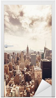 Naklejka na Drzwi Manhattan skyline widok z lotu ptaka
