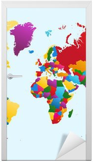 Mapa świata, kraje kolorowe eps10 wektor plik.