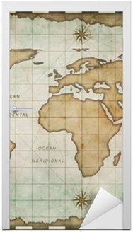 Naklejka na Drzwi Mapa świata w wieku stare