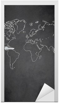 Naklejka na Drzwi Mapa świata wektor tablica tablica