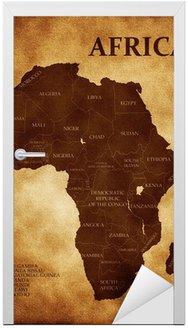 Naklejka na Drzwi Mapy afryka