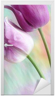 Naklejka na Drzwi Marzycielski tulipany