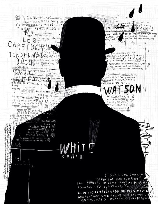 Naklejka na Drzwi Mężczyzna w kapeluszu - Mężczyźni