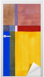 Naklejka na Drzwi Minimalistyczny malarstwo abstrakcyjne