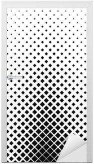 Naklejka na Drzwi Monochromatyczny kwadrat wzór tła projektowania