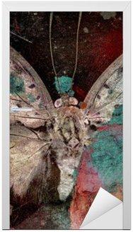 Naklejka na Drzwi Motyl
