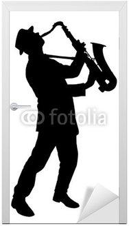 Naklejka na Drzwi Music - 21