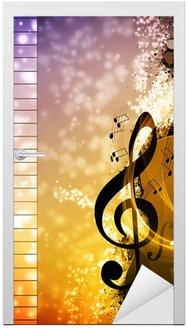 Naklejka na Drzwi Muzyka w tle