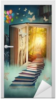Naklejka na Drzwi Na piętrze do magicznej krainie