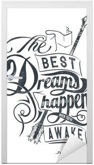 Naklejka na Drzwi Najlepsze sny
