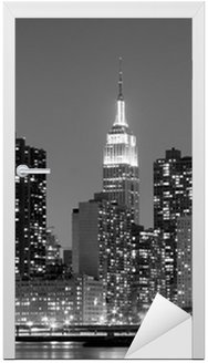 Naklejka na Drzwi New York City At Night Lights, Midtown Manhattan