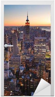 Naklejka na Drzwi New York City Manhattan Empire State Building