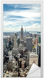 Naklejka na Drzwi New York City Midtown Manhattan skyline budynków
