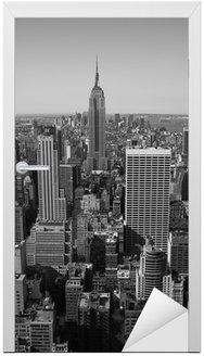 Naklejka na Drzwi New York City Panorama black & white