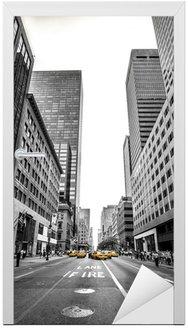 Naklejka na Drzwi New york et son aleja
